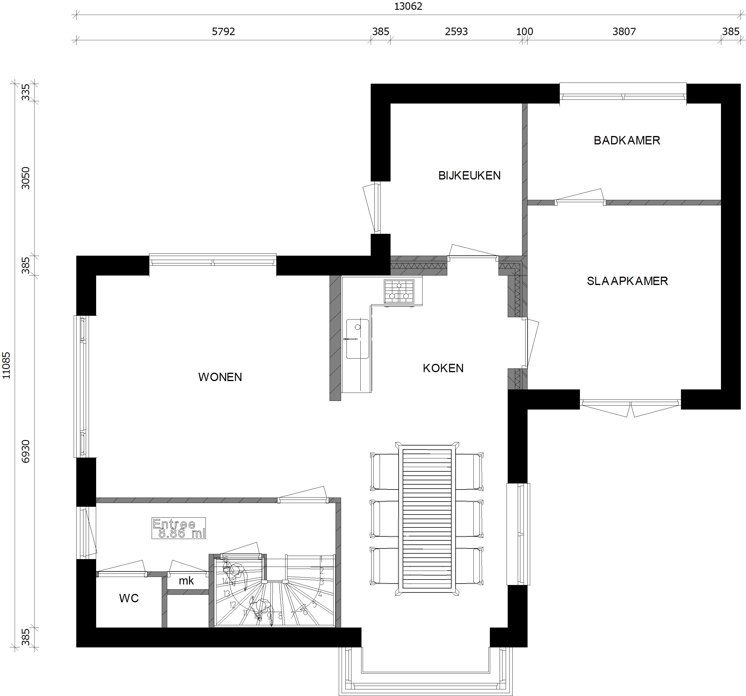 Modellen - Slaapkamer met kleedkamer en badkamer ...